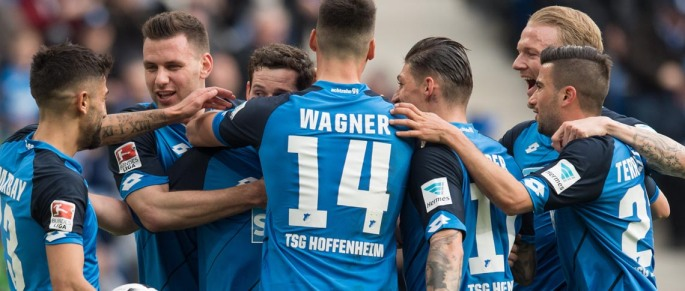 Hoffenheim players celebrating
